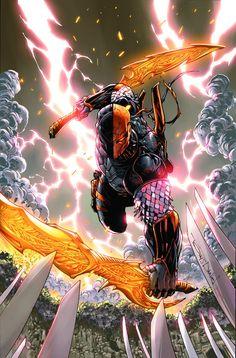 The Full DC Comics May 2018 Solicitations! Comic Book Artists, Comic Book Characters, Comic Artist, Comic Books Art, Marvel Comics, Dc Comics Superheroes, Dc Comics Art, Marvel Dc, Dc Deathstroke