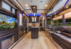 Toy Hauler Campers Ideas Products 64 Ideas For 2019 Toy Hauler Camper, Vw Camper, Luxury Rv Living, Luxury Campers, Grand Design Rv, Fifth Wheel Toy Haulers, Luxury Home Decor, Camping Life, Rv Life