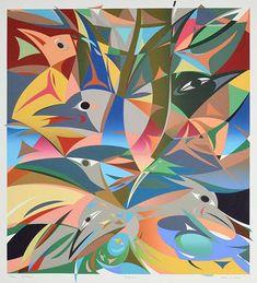 Robins (2017) State I - Black by Susan Point, Coast Salish (Musqueam) artist (SP2017-01)
