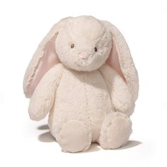 Gund Baby Thistle Bunny Plush, Cream, Thistle Bunny cream-colored rabbit plush Features pale pink accents on inner ears and nose Machine-washable Appropriate for ages 13 inch height Bunny Plush, Bunny Toys, Baby Bunnies, Easter Bunny, Big Stuffed Animal, Cute Stuffed Animals, Nate River, Cute Teddy Bears, Pillows
