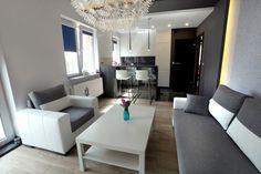 Konkurs - Salonz aneksem kuchennym w mieszkaniu z biurem - Salon - Styl Nowoczesny - ARTDOM Pracownia Projektowa Renata Modrzyńska-Kasiak