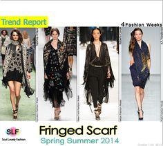 Fringed Scarf FashionTrend for #SpringSummer2014 #spring2014  #fashion #ss2013 #trends #fringe  #scarf