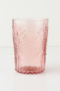 These beautiful Fleur-De-Lys Tumblers use to be my everyday glasses... then I got married and they all broke! haha  Still so pretty... if only they came in plastic! =)