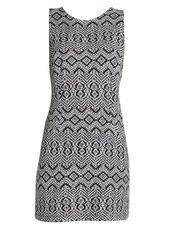 Wallis Petite Monochrome Jacquard Pinny Dress