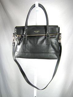 AUTHENTIC KATE SPADE Black Leather Crossbody Shoulder Handbag #katespade #ShoulderBagCrossbody