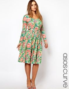 ASOS CURVE Dress In Floral