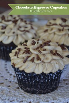 Chocolate Espresso Cupcakes - my new breakfast food