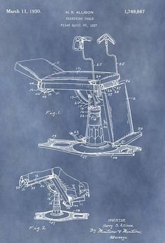 Vintage Examination Table Patent