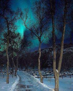 Luces en Noruega.