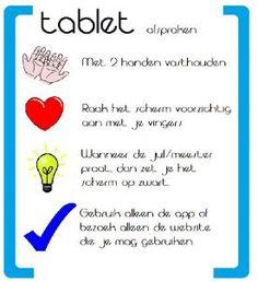 Enkele korte afspraken voor in de klas ivm het gebruik van Tablets. Simpel en duidelijk!