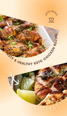 8 Tasty & Healthy Keto Chicken Recipe Chicken is a staple food for any diet where you are looking to cut fat. And these keto chicken recipes are some of the best recipes that you will find if you are just starting out with the keto diet plan. #keto #chickenrecipes #ketorecipes