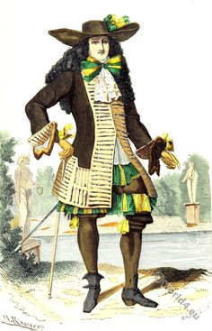 French lord in the reign of King Louis XIV. 17th century. According to Chevallier-Chevignard.