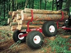 ATV logging trailer from Logic, available from Taylors Tools Ltd Semi Trailer, Log Trailer, Off Road Trailer, Trailer Plans, Trailer Build, Utility Trailer, Welding Projects, Projects To Try, Atv Implements