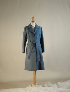 100% Wool blue coat with Sewing around every by LaBellaEpoque
