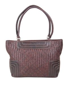 Type : Shoulder Bags Color : Dark Brown with white thread Closure : Zip Handle/Strap : Two Compartment : Two Material : Leather Dimension (LxW) cm : 44×28 Description:Top Quality leather woven bag both side with 2 centre partitions with zip,1 Back Pocket zip and 2 small zip pocket inside also 1 small pocket for mobile Disclaimer : Product colour may slightly vary due to photographic lighting sources or your monitor settings