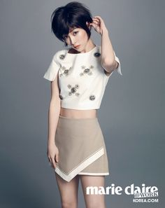 Short Haired Han Ji Min Is Cute & Sexy For Marie Claire Korea