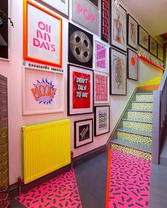 The Low Down on DIY Stairs Rainbow Gallery Wall Exposed Don't think you should make your home look to be an igloo unless you would like to. If you wis. Painted Radiator, Painted Stairs, Sgraffito, Neon Painting, Diy Wall Painting, Painting Canvas, Home And Deco, Elementary Art, Home Design