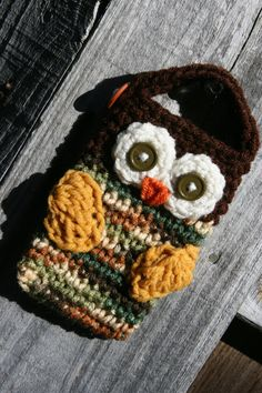 One of my cell phone owl cozies in my fall line.