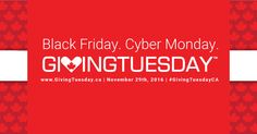 "Giving Tuesday is November Most people know about Black Friday and Cyber Monday – now we have GivingTuesday, ""the opening of the giving season"". It's a day where charities, companies, and individuals join together to share commitments, rally. Boston Terrier Rescue, Giving Tuesday, Cyber Monday, Rally, Black Friday, November, Join, Canada, People"