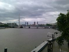 "walking on Waterloo Bridge - you see ""EYE OF LONDON"", Big Ben, Houses of Parliament.. the Hungerford Foot Bridge & the Westminister Bridge"