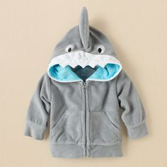 newborn - boys - swimwear - shark terry hoodie | Childrens Clothing | Kids Clothes | The Childrens Place