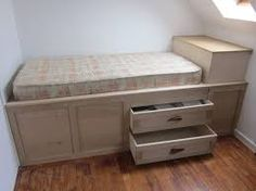 stair box - make use of the stair box in girls room
