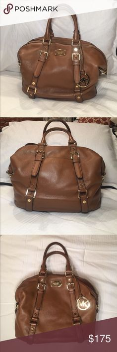 Michael Kors Camel Bedford Belted Satchel Michael Kors Bedford Camel Leather Belted Medium Satchel Bag. Used once. Amazing condition. Michael Kors Bags