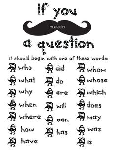 "Have you joined the mustache craze yet?   I don't know about your students, but when anyone would ask: ""Does anyone have any questions?"" m..."