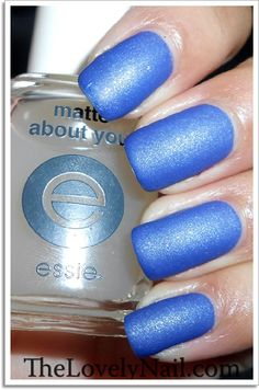 Sinful Colors Neptune + Essie Matte About You.