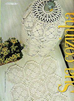 Crochê Gráfico: Jogo de cozinha em crochê