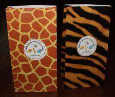 Jungle/Safari Animal Print Favor Bags set of by CreatingMemoriesNC, $21.00