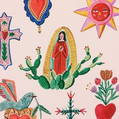 Bodil Jane Shop - The Sacred Heart Posca Art, Art Et Illustration, Illustrations Pop, Mexican Art, Sacred Heart, Art Design, Art Inspo, Art Journal Inspiration, Folk Art