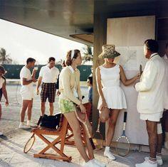 Tennis in the Bahamas, 1957, by Slim Aarons