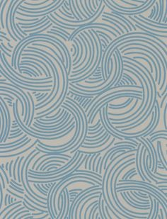 Tourbillon (BP 4802) - Farrow & Ball Wallpapers - Inspired by French fashion, this design of segmented circles in a grey and blue colourway has been inspired by the designs of the Ducharne studio, a French fashion studio producing designs from the 1920s until the 1960s. Other colourways available. Please request sample for true colour match.