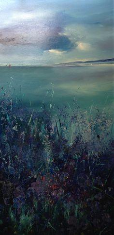 View Across The Bay by Lillias Blackie Little Acorns, Rock Pools, Yorkshire, Scotland, Art Gallery, Coast, Ocean, Sky, Colours