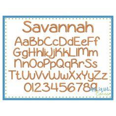 Savannah Embroidery Font