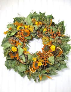 Dried Flower Wreath  Fall Decor  Dried by summersweetboutique, $52.00