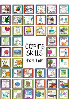 Top Coping Skills for Kids posters, task cards, worksheets and activities perfect for school counseling and families. Kids Coping Skills, Coping Skills Activities, Sorting Activities, Counseling Activities, Primary Activities, Educational Activities, School Social Work, Emotional Regulation, Social Emotional Learning