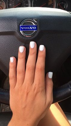 The Tried and True Method for Short Acrylic Nails in Step by Step Detail Ombre nails are an enjoyable spin on the normal manicure and are fantastic for special occasions along with every day wear. Anyway, the ombre nails can… Continue Reading → Acrylic Nails Natural, White Acrylic Nails, Short Square Acrylic Nails, Short Square Nails, White Shellac Nails, Short Oval Nails, French Tip Acrylic Nails, White Nail Designs, Acrylic Nail Designs