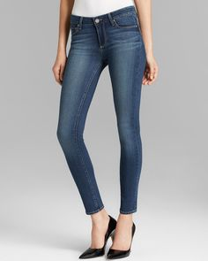 Paige Denim Jeans - Transcend Skyline Skinny in Easton   Bloomingdale's