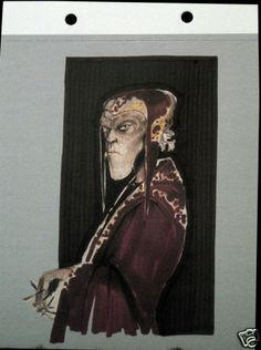 Postcard Star Wars Bib Fortuna Concept Sketch Nilo Rodis-Jamero Aliens Creatures