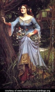 """Ophelia 1910"" by  John William Waterhouse"