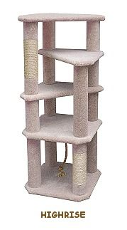 Build A Cat Condo With Cool Cat Tree Plans: Highrise Cat Tree Plans