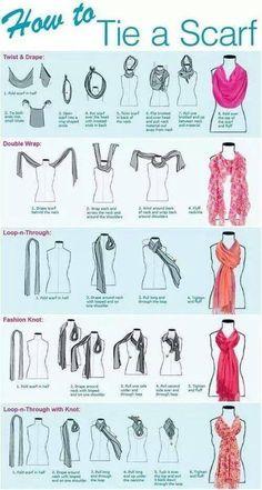 Hoe knoop je een sjaaltje