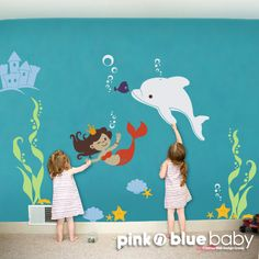 Hey, I found this really awesome Etsy listing at http://www.etsy.com/listing/126749169/mermaid-decal-kids-wall-sticker