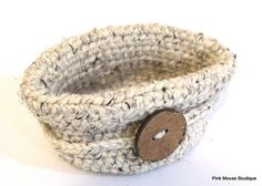 Make this cute crochet basket with Wool-Ease Thick & Quick!