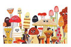 L'automne | Art print | Elise Gravel – Sur ton mur | Art Gallery | Prints, Illustrations, Decoration | Montreal