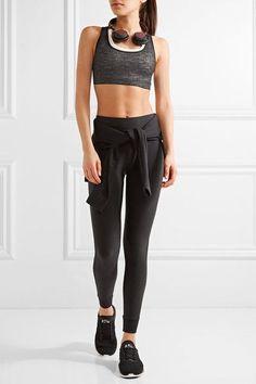 Nike - Nikelab Essentials Layered Dri-fit And Burnout Stretch Sports Bra - Black - x small