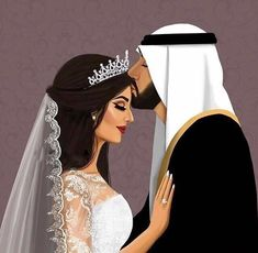 Image about art in girly_m by R on We Heart It Love Cartoon Couple, Cute Couple Art, Anime Love Couple, Wedding Couple Poses Photography, Cute Photography, Cute Muslim Couples, Cute Couples, Girly M Instagram, Instagram Wedding