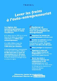 Pourquoi voter #Macron ? Pour lever les freins à l'auto-entrepreunariat. #AE #Indépendants #Entreprendre #JeVoteMacron